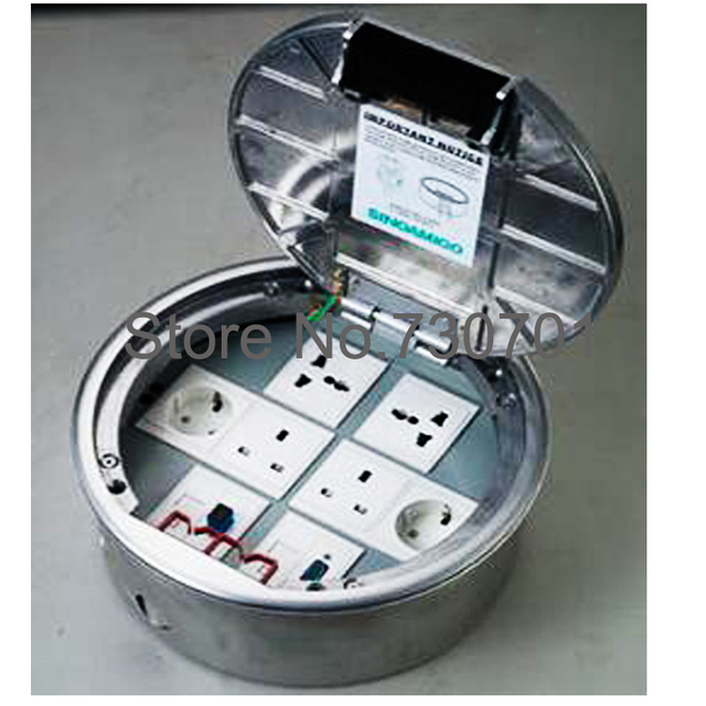 Access Floor Power Outlet Round Concrete Box Aluminum Material 95 Pcs By DHL