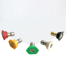 """5pcs 1/4"""" Quick Connector Car Washing Nozzles Metal Jet Lance Nozzle Different Angles High Pressure Washer Spray Nozzle"""