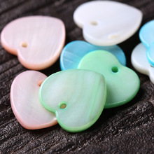 20pcs 12mm Natural Mother of Pearl Shell loving heart Peach Hearts Beads for women DIY Jewelry Making Earring Bracelets loving mother