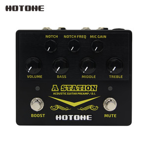 Image 1 - Hotone A Station Acoustic Preamp DI Box Guitar & Microphone Guitar Effects Pedal 9V Adapter Included AD20
