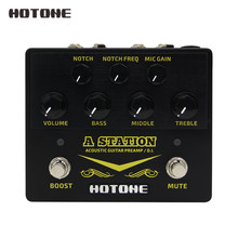 Hotone محطة الصوتية Preamp دي صندوق الغيتار والميكروفون تأثيرات الغيتار دواسة 9 فولت محول وشملت AD20