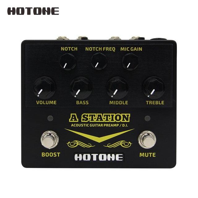 השפעות monoliphic רווח תחנה אקוסטית Preamp DI תיבת גיטרה & מיקרופון גיטרה 9V מתאם כלול AD20