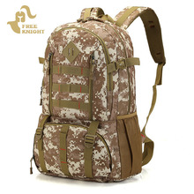 цена на Jungle camouflage Outdoor Camping Backpack Sport Military Army Bag Backpack Waterproof Hiking Travel Backpack Trekking Rucksack