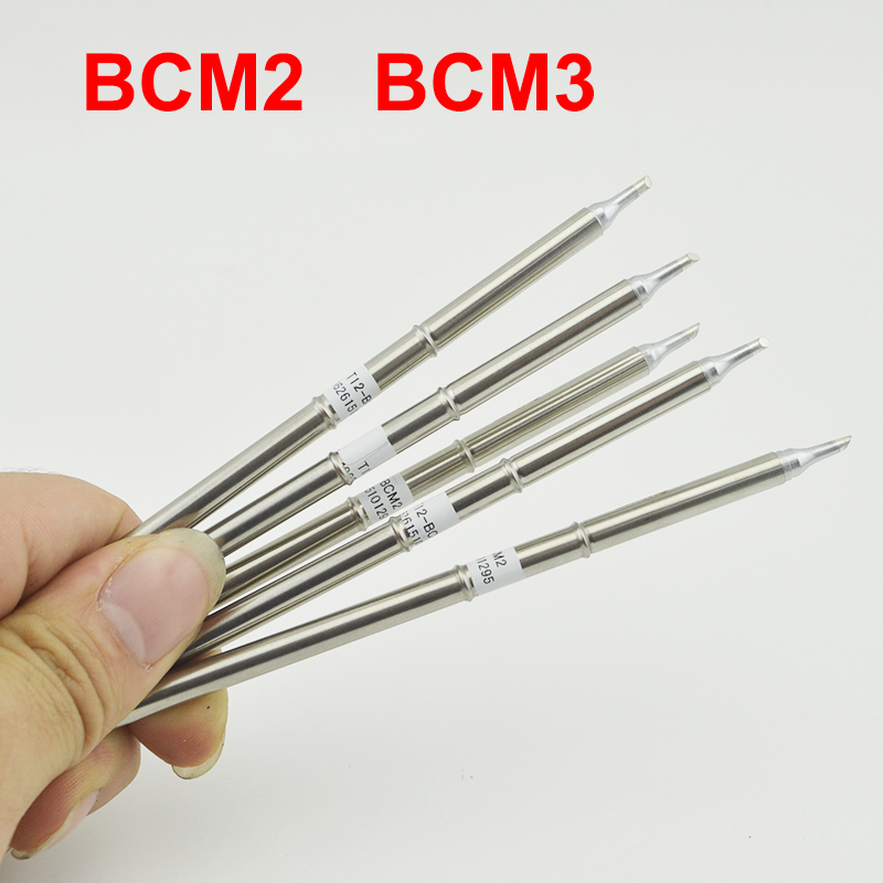 T12-BCM2 BCM3 Soldering Iron Tip Bevel With Indent / Horseshoe-shaped BCM2 Tip With Groove /shape