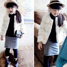 2014 new autumn and winter girls  coat ,Leather grass Faux fur kids jackets coats, Plus thick velvet children Outerwear coat