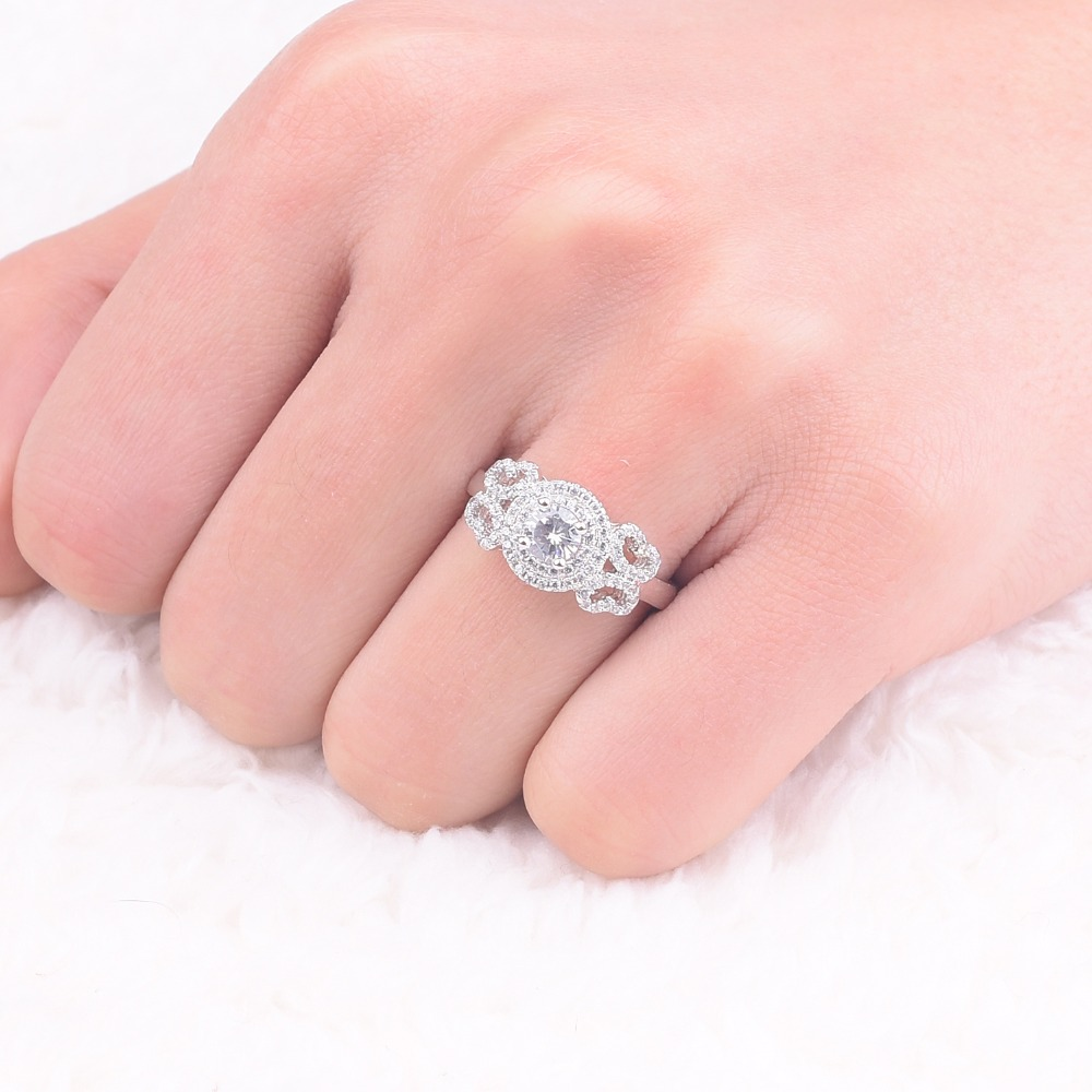 Promotion!!! Real Solid 100% 925 Sterling Silver Wedding Rings ...