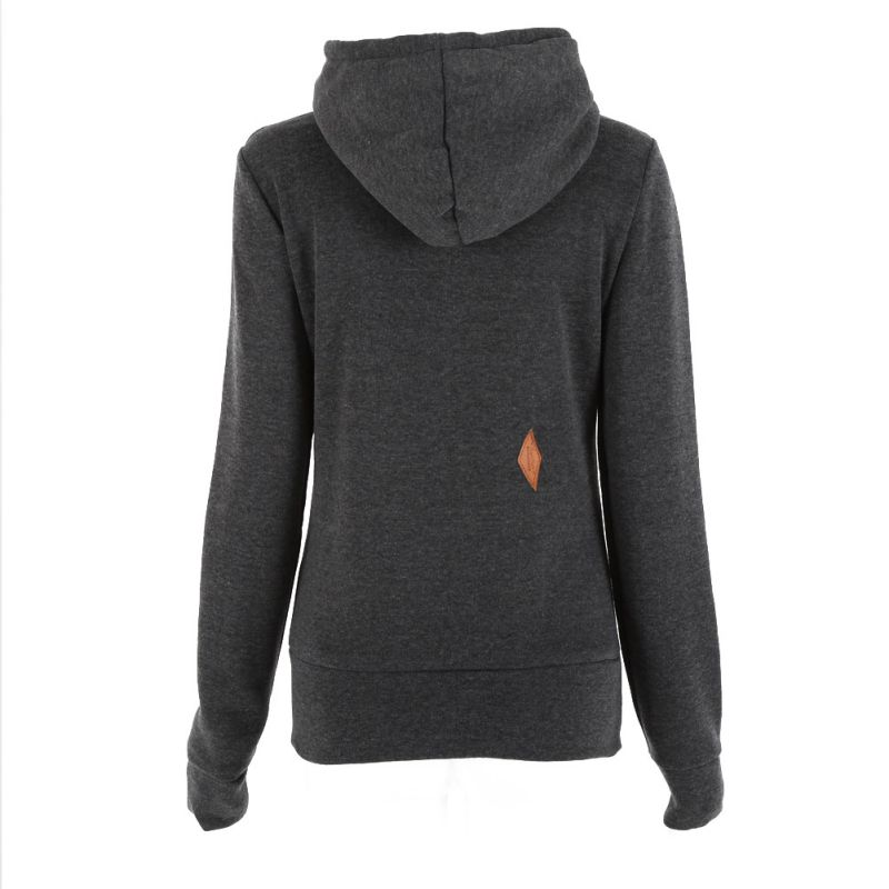 2017 Women Autumn Winter Hoodies Pullovers Casual Long Sleeve Pocket Embroidery Sweatshi ...
