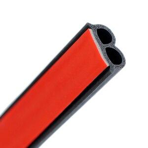 Image 4 - Uniwersalna uszczelka do drzwi samochodowych typu B izolacja hałasu uszczelka Auto uszczelki gumowe do izolacja akustyczna do samochodu