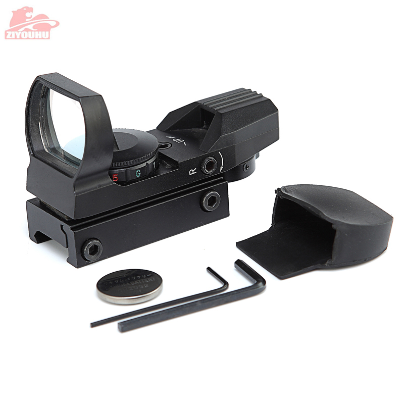 Image 4 - 20mm Rail Holographic Rifle Scope Hunting Optics Tactical Scope Holographic Red Dot 4 Reticle Collimator Sight Reflex Riflescope-in Riflescopes from Sports & Entertainment