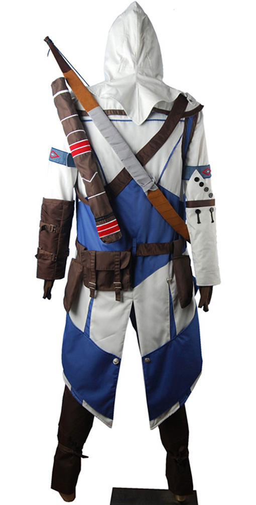 AC 3 III Connor kenway Hoodie Outfit Halloween Carnival Comic-con - Kostiumy - Zdjęcie 4