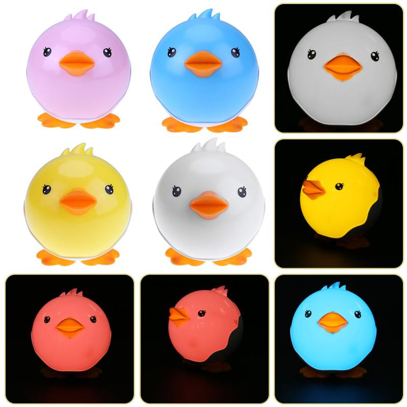 Touch Sensor LED Night Light for Children Baby Kids USB Charging Lamp 4 Colors Duck LED USB Night Lights