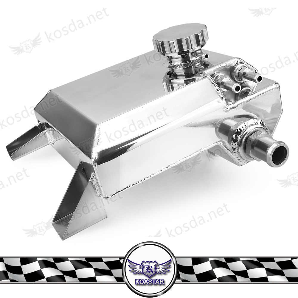 For Ford Falcon BA-BF 6CYL V8 XR6 XR8 FPV Vehicles Coolant Overflow  Resevoir Tank 2 5L Aluminum Polished Chrome