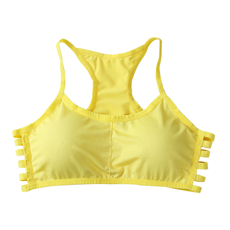 Women Bra Cotton Stretch Vest Fitness Padded Colorful Summer Style Plus -9125
