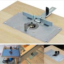 Roteador para gravação em madeira, roteador de madeira, tabela, bancos, alumínio, madeira, modelos, máquina de gravação com 4 ferramentas de anel