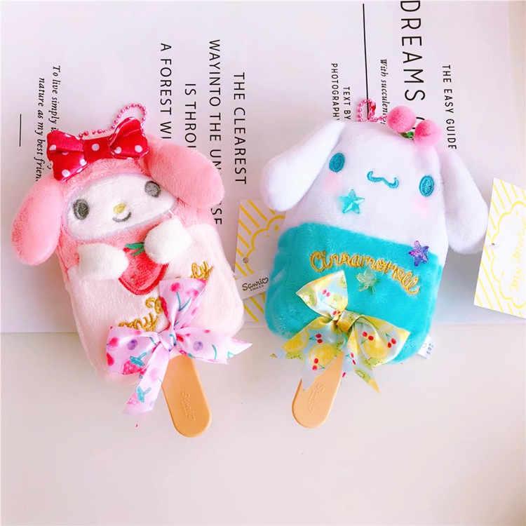 Dos desenhos animados Olá Kitty My Melody Cão Cinnamoroll Cão Pudim A Pouco Twin Star Ice Cream Keychain Bag Pingente para Crianças presentes