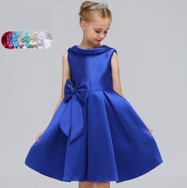 2018 Baby Girl Green/White/Red Satin Princess Dress with Big Bow Kids Wedding Dress Infants Bridesmaid Clothes Summer Vestidos big jujube clip walnut raisin cashew wolfberry honey red dates with white sesame red dates 500g