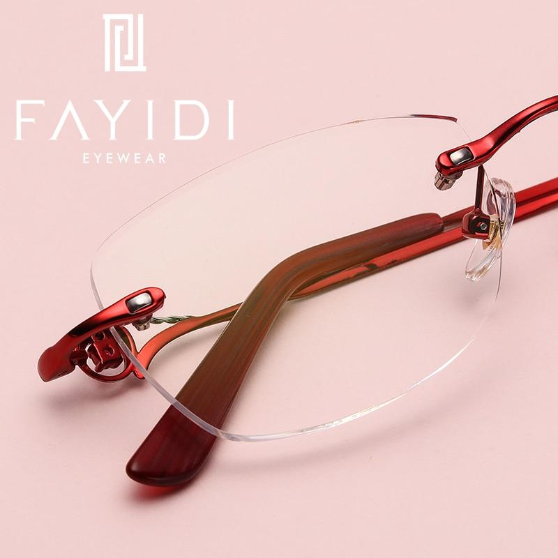 Bekleidung Zubehör Metallrandlose Brille Frauen Marke Designer Rezept Objektiv Einstärken Progressive Kurzsichtigkeit Weitsichtigkeit Randlose Brille # F123 Klar Und Unverwechselbar Korrektionsbrillen