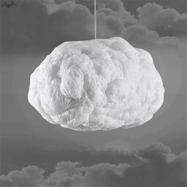 Post Moderne Schwebenden Wolken Pendelleuchte Kreative Weisse Hngen Licht Fr Wohnzimmer Bar Cafe Home Beleuchtung