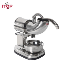 ITOP Commercial Stainless Steel Ice Crushers Shavers Electric Cream Smoothie Snow Maker Chopper for Coffee Shop Hotel