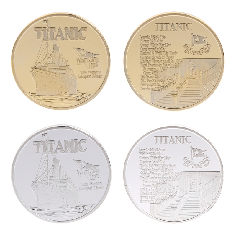 Commemorative Coin Titanic Ship Incident Collection Arts Gifts BTC Bitcoin Alloy