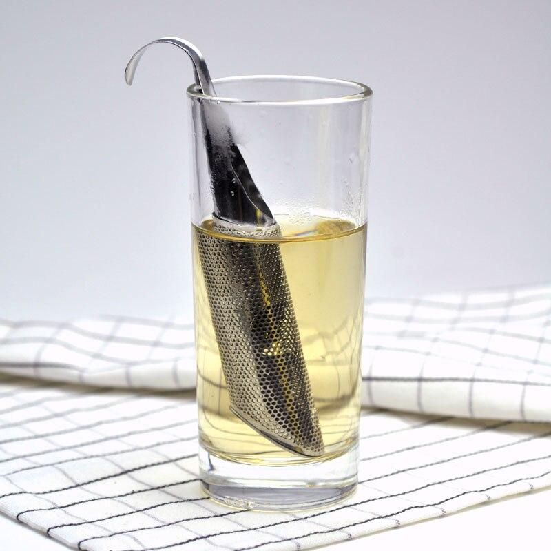 热销不锈钢滤茶器金属茶器烟斗设计过滤器更陡的普Pu草散叶茶配件礼品(9)