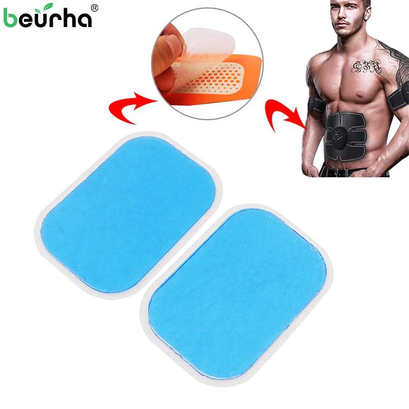 4Pcs Abdominal Gel Stickers For EMS Trainer Hydrogel Gel Pads For Abdominal Muscle Stimulator Fitness Massage Machine кроем крышу шифером