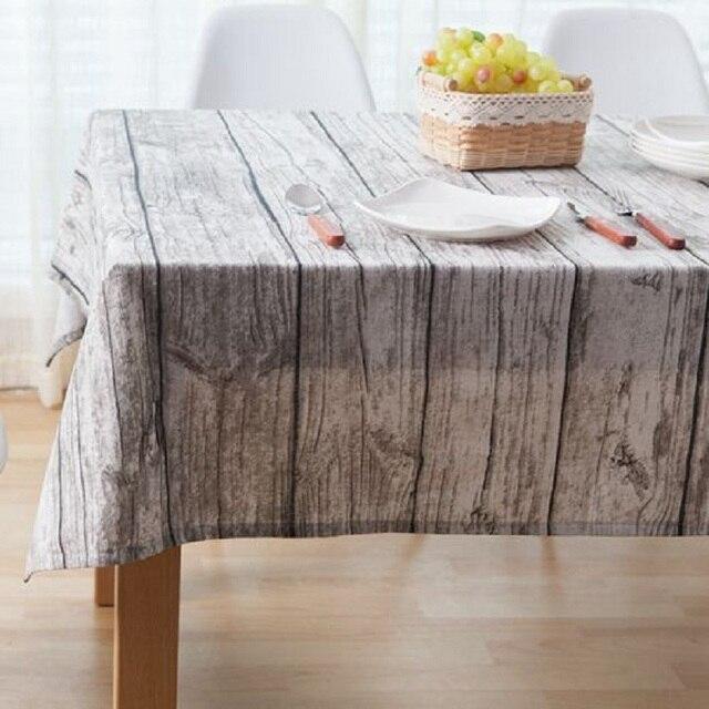 simanfei wood grain retro imitation cotton fabric cloth creative background table cloth natural wood color