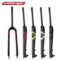 Ullicyc Full Carbon Fiber Mountain Bike Fork Hard Fork Fit Disc Brake colorful 1 1/8 28.6mm Fork bicicleta 26/27.5/29ER QC525
