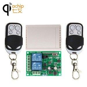 Image 2 - QIACHIP 433 Mhz Interruttore di Telecomando Senza Fili AC 85V 110V 220V 2CH Relè Modulo Ricevitore e RF 433 Mhz 4 button Telecomandi E Controlli Da Remoto