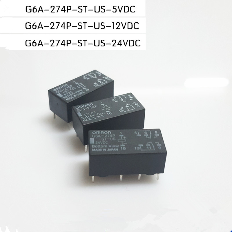 1pcs ORIGINAL G6A-274P-ST-US-24VDC 24VDC Omron Relay 8Pins