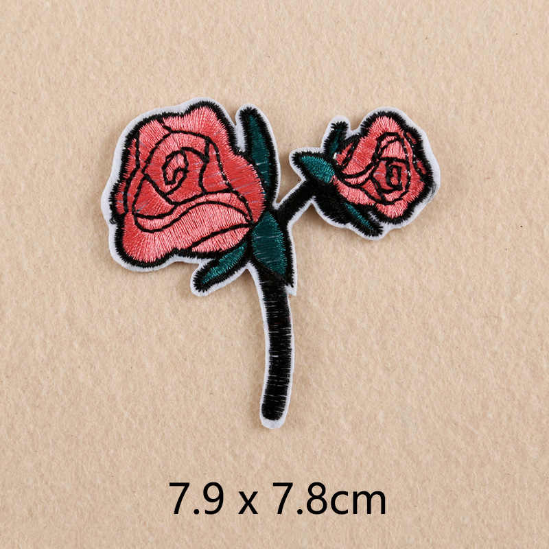 11pc Embroidery Rose Flower Sewing Patches Fabric Iron on Bag Hat Badge Applique