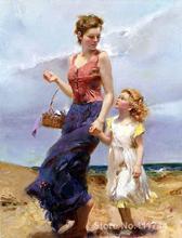 Pintura para la madre y los niños Afecto Óleopino Daeni arte para la venta de Alta calidad pintado a Mano