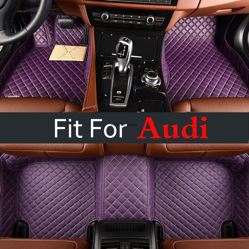 Accessories Auto Styling Floor Mat For Audi A1 A3 A4 B8 B7 B6 B5 A6 C6 C7 A8 A8l Q3 Q5 Q ...