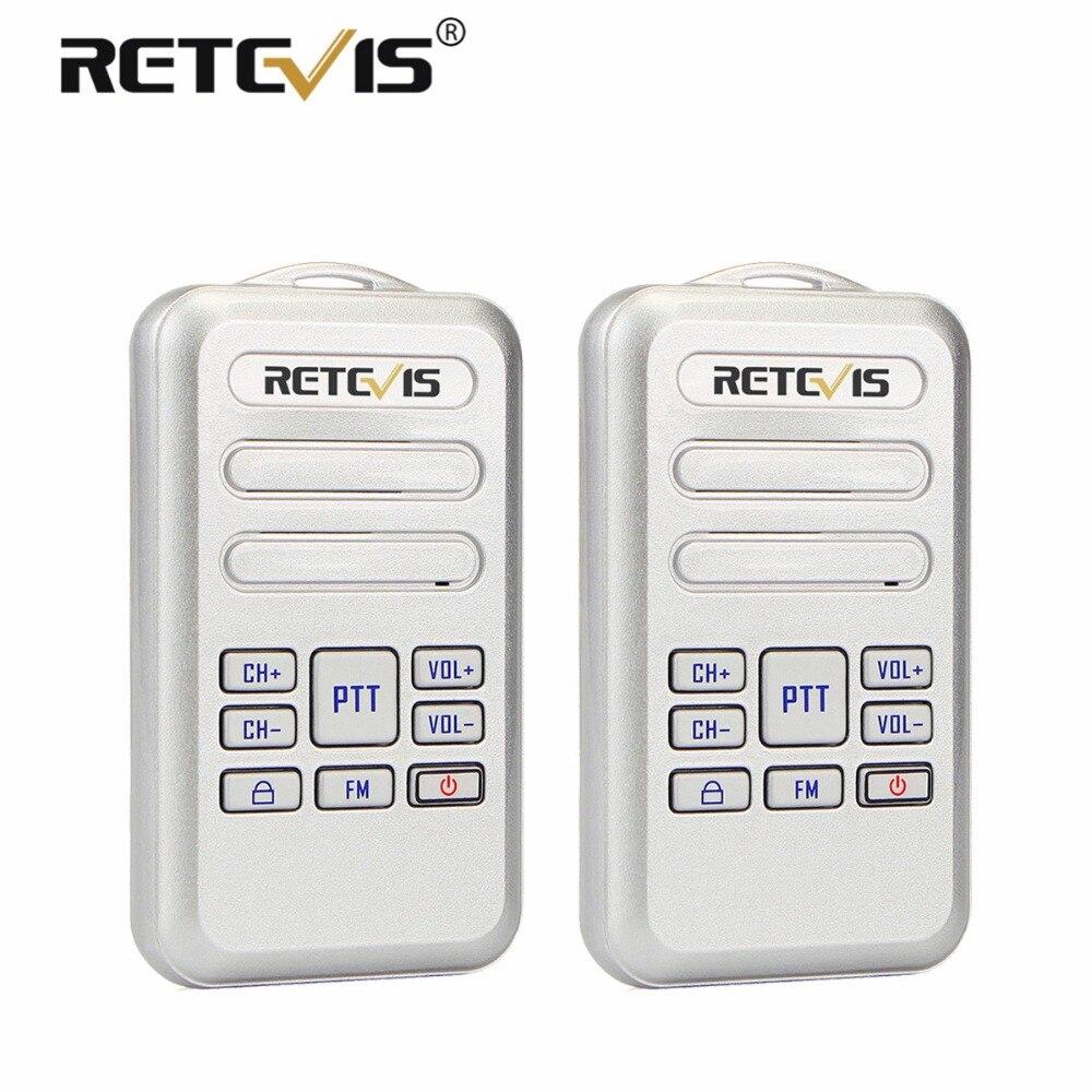 Une Paire Retevis RT20 Mini Talkie Walkie Radio 2 w UHF Émetteur-Récepteur VOX FM Radio Type-C USB Charge 2 Way Radio Walk Talk Comunicador