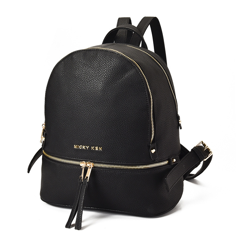 Korean-Style Fashion Shoulder Bag Black Women Backpacks  PU Leather Women Backpack Female Black Backpacks Zipper Bags