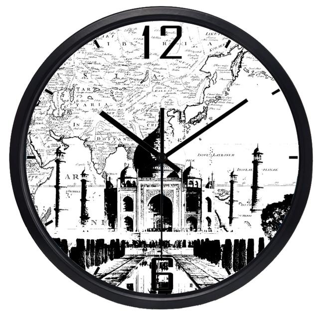India Taj Mahal Crafts Vintage Decorative Wall Clock Modern Design