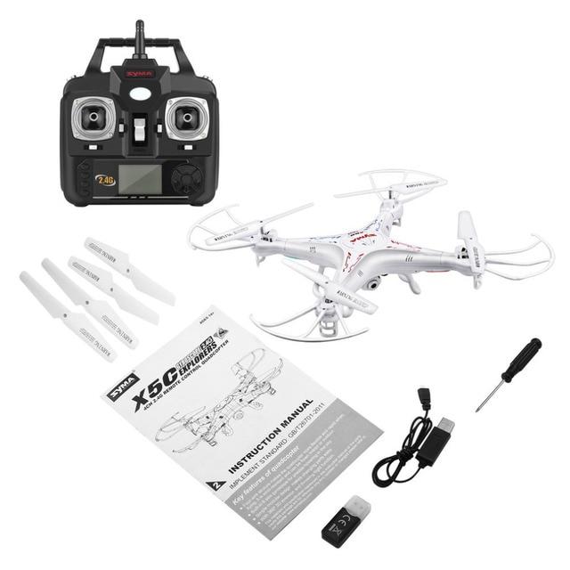 Syma X5C RC Drone Quadcopter Dron 2.4G 6-Axis Gyro UAV RTF HD Camera Remote Control Helicopter Quadcopter VS X5HW Toys for Kids