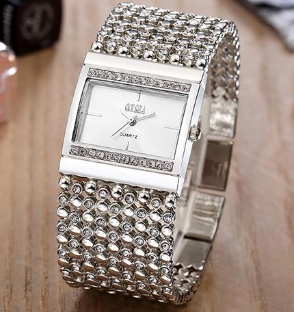 Top Luxury Brand Fashion Casual Bracelet Quartz Watch Women Ladies Crystal Dress Wrist Watch Wristwatches Relogios Feminino sinobi women quartz watch bracelet crystal diamond luxury relogios feminino stainless steel band water resistant wristwatches