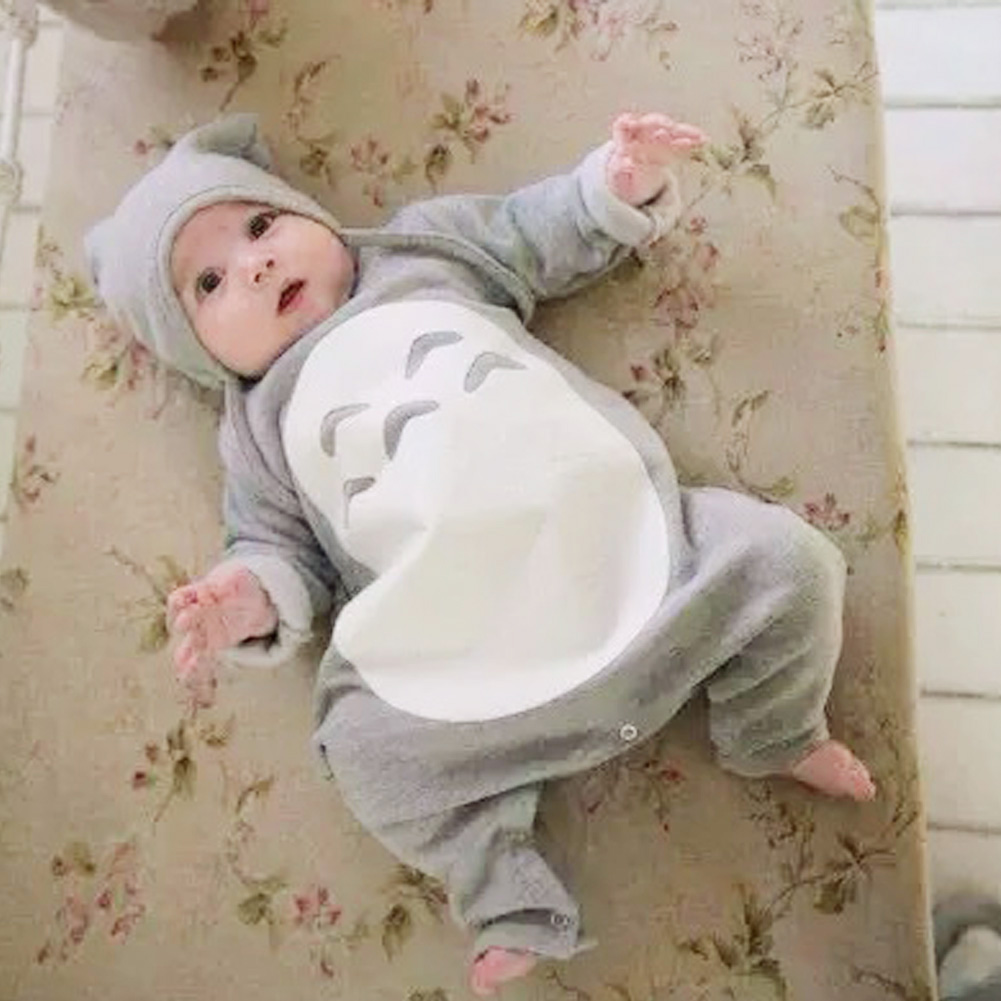 Autumn Winter Newborn Romper Baby Cartoon Long Sleeve Jumpsuit Newborn Boy Girl Baby Body Clothing Rompers with Hat 0-24M 2016 newborn baby rompers cute minnie cartoon 100% cotton baby romper short sleeve infant jumpsuit boy girl baby clothing