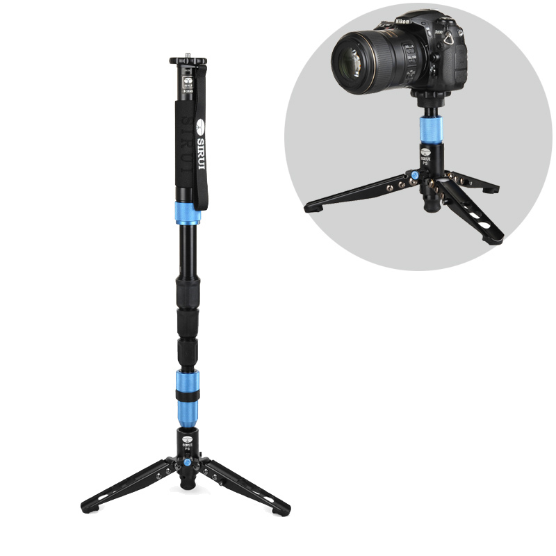 DHL Free Shipping Sirui P-204S P204S Camera Monopod Video Monopods Aluminum Table Top Tripod 4 Section Carrying Bag Max Load 8kg weifeng wf 3642b pro aluminum portable travel camera tripod carrying bag 4 section max loading 2kg dhl free shipping