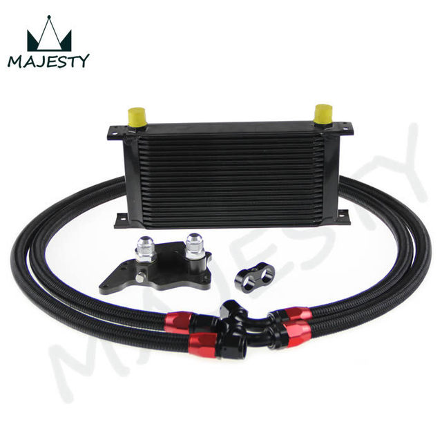 19 Row British Type Oil Cooler Kit For Bmw Mini Cooper S