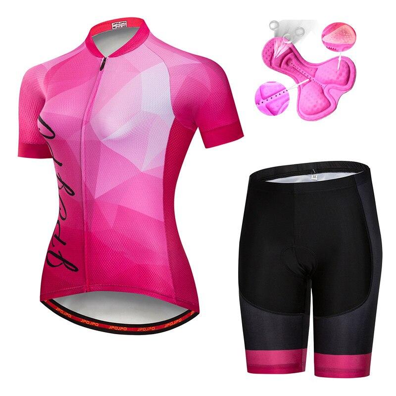 Summer Cycling Jersey Women MTB Bike Cycling Clothing Mountian Bicycle Clothes Ropa Ciclismo Cycling Shirt (bib) Short Sets