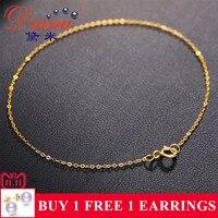 DAIMI Pure Gold Bracelet Chain 18K Yellow Gold Chain Light Chain Gold Bracelet