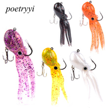 POETRYYI fashion new PVC octopus bait 9cm 23g a variety of color choice  iscas artificiais para pesca em rio 30