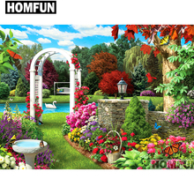 HOMFUN Full Square/Round Drill 5D DIY Diamond Painting Scenic garden Embroidery Cross Stitch 5D Home Decor Gift A01682 homfun full square round drill 5d diy diamond painting garden