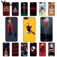Yinuoda Chilling Adventures of Sabrina Black Soft Shell Phone Cover for Apple iPhone 8 7 6 6S Plus 5 5S SE XR X XS MAX