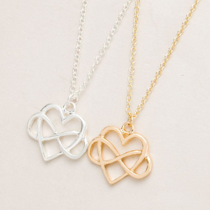 Smjel new fashion infinity heart necklace pendant sinple love smjel new fashion infinity heart necklace pendant sinple love necklace bridesmaid gifts wholesale 30pcs n130 in pendant necklaces from jewelry accessories aloadofball Images