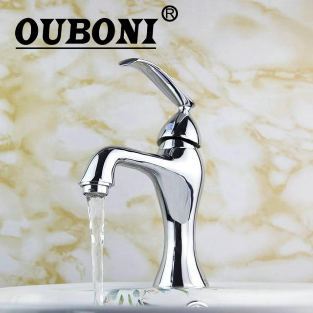 Ouboni E Pak Chrome Polish Bathroom Faucet Basin Sink Mixer Tap Stream Spout Small
