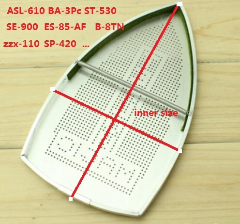 electric Iron Parts industrial steam iron shoe Aluminum cover ASL-610  BA-3Pc electric iron teflon iron shoe ptfe iron protection cover 230mmx155mmx0 5mm