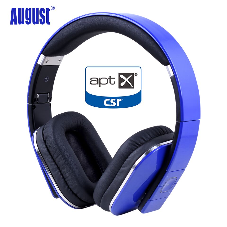 August EP650 Bluetooth Wireless Headphones with aptX / NFC / 3.5mm Audio In Bluetooth 4.1 Stereo Music Headset for TV ,Computer original a8 wireless headphones over ear stereo headphone with nfc 3 5mm audio in aptx headset for tv pc